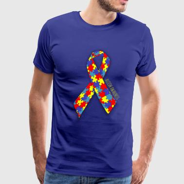 Autisim Awareness Ribbon - Men's Premium T-Shirt
