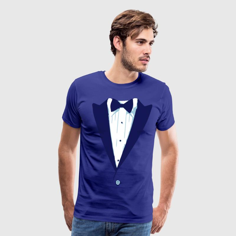 Custom Color Tuxedo Tshirt - Men's Premium T-Shirt