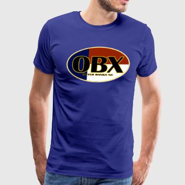 OBX Outer Banks North Carolina Beaches - Men's Premium T-Shirt