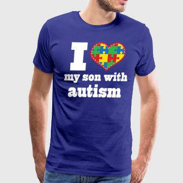 Autism Spectrum Awareness Son - Men's Premium T-Shirt