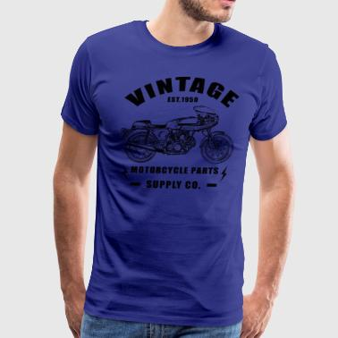 Vintage Cafe Racer Motorcycle - Men's Premium T-Shirt