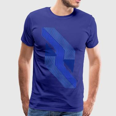 Triangular Rivers That Surely Deliver - Men's Premium T-Shirt