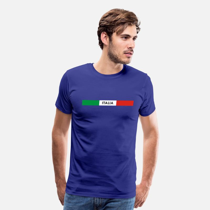 Green T-Shirts - Italia green white red - Men's Premium T-Shirt royal blue