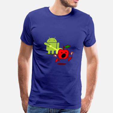 Android Developer Funny Funny T Shirt Android Attack Apple - Men's Premium T-Shirt