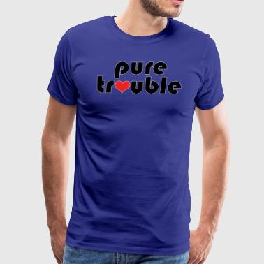 Humorous Pure Trouble and Heart Design - Men's Premium T-Shirt