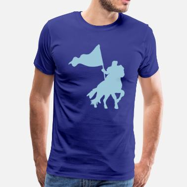 Medieval MEDIEVAL FESTIVAL knight on a horse with a flag  - Men's Premium T-Shirt