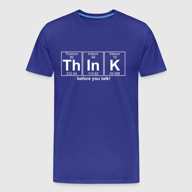 Th-In-K (think) - Full - Men's Premium T-Shirt