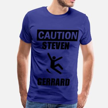 Slippy Caution Steven Gerrard - Men's Premium T-Shirt