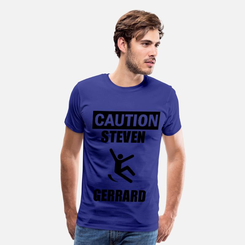 Australia T-Shirts - Caution Steven Gerrard - Men's Premium T-Shirt royal blue