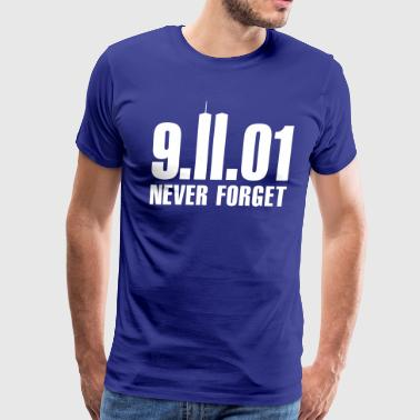 9/11 Never Forget Towers - Men's Premium T-Shirt