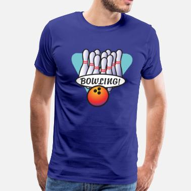 Holiday Bowling Bowling - Men's Premium T-Shirt