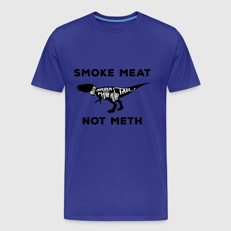 Smoke meat not meth T-rex edition - Men's Premium T-Shirt
