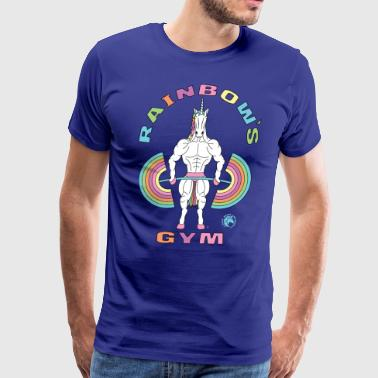 Gym Unicorn Rainbow s Gym Unicorn Outline - Men's Premium T-Shirt
