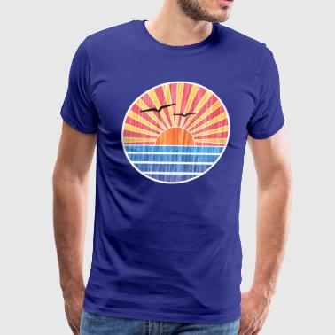 Retro Ocean Sunset - Men's Premium T-Shirt