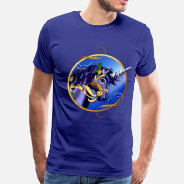 Shimmy Another Magical Christmas Unicorn Face2 - Men's Premium T-Shirt