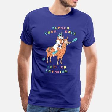 Canoeing Kayaking Alpaca Your Bags Let s Go Kayaking Unicorn - Men's Premium T-Shirt