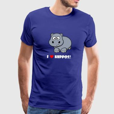I LOVE HIPPOS #1 - Men's Premium T-Shirt