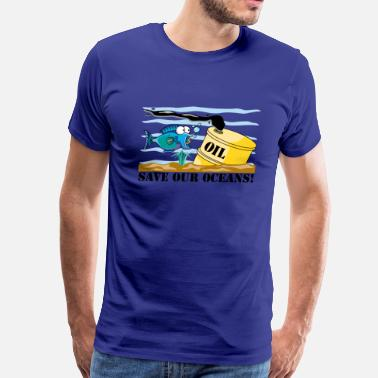 Save Our Oceans Earth Day Save Our Oceans - Men's Premium T-Shirt