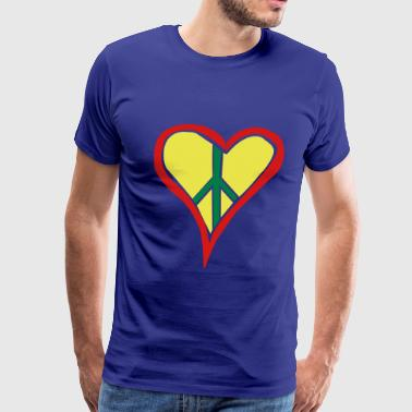 Rasta Peace Rasta Heart Peace - Men's Premium T-Shirt