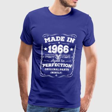 Funny Made In 1966 Made in 1966 - Aged to perfection - Men's Premium T-Shirt