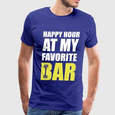 My Happy Hour Is The Gym Happy hour at my favorite bar - Men's Premium T-Shirt
