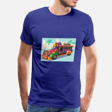 Flag Of Philippines Philippine Jeep vector Illustration or Jeepney - Men's Premium T-Shirt