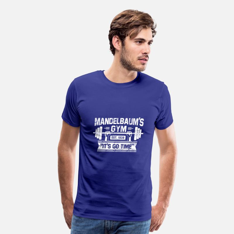 Funny T-Shirts - gym mandelbaum - Men's Premium T-Shirt royal blue