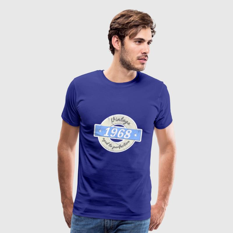 50th birthday 1968 gift vintage aged to perfection - Men's Premium T-Shirt