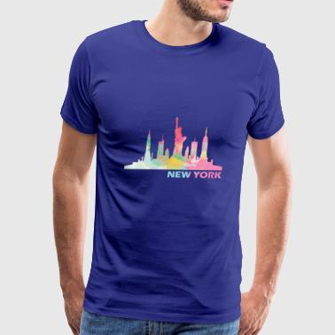 New York Skyline - Men's Premium T-Shirt