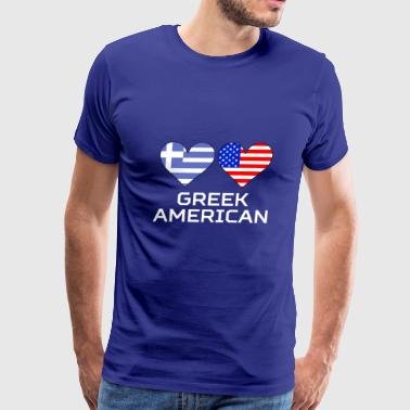 Greek American Hearts - Men's Premium T-Shirt
