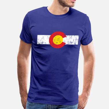 Spreadshirt 15 Year Best Selling Designs Vintage Colorado Flag - Men's Premium T-Shirt