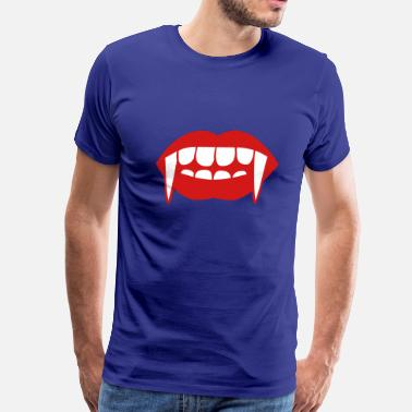 Fangs Vampire Fangs of a vampire - Men's Premium T-Shirt