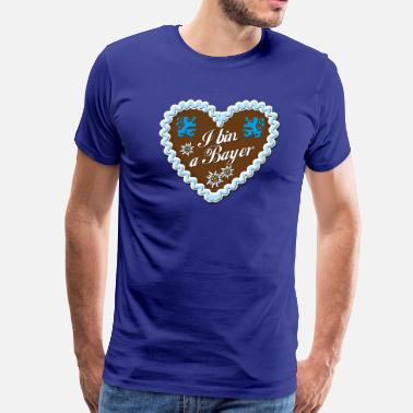 Bayer Lebkuchenherz I bin a Bayer Gingerbread Heart Lion - Men's Premium T-Shirt