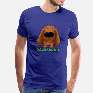 Long Haired Dachshund Big Nose Long Haired Dachshund - Men's Premium T-Shirt