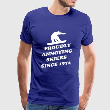Proudly Annoying Skiers Since 1972 - Men's Premium T-Shirt