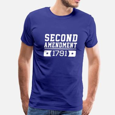 Second Second Amendment 1791 - Men's Premium T-Shirt