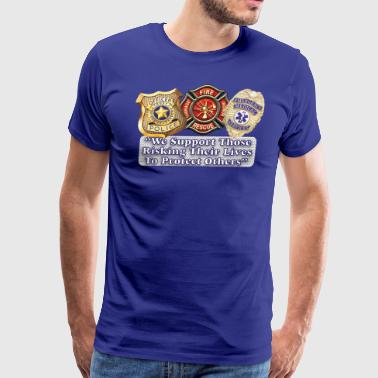 Police Fire EMS Support - Men's Premium T-Shirt