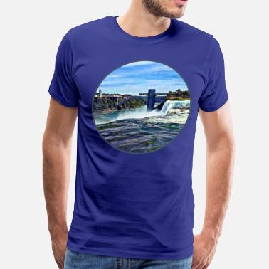 Niagara Falls Niagara Falls NY: Prospect Point Observation Tower - Men's Premium T-Shirt