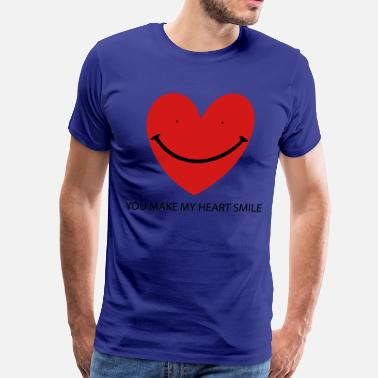 Smiling Heart Heart Smile - Men's Premium T-Shirt