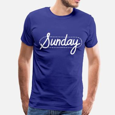 Dotted Line Sunday Dotted - Men's Premium T-Shirt