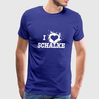 I Love Schalke - Bundesliga - Men's Premium T-Shirt