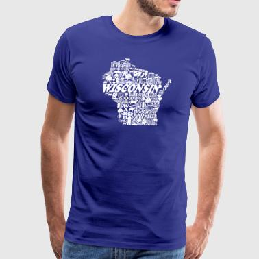 Wisconsin Words State City Love Cute Clothing - Men's Premium T-Shirt