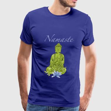 Bouddha with blue lotus blossom - Men's Premium T-Shirt