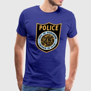 Sacramento California Police Patch - Men's Premium T-Shirt