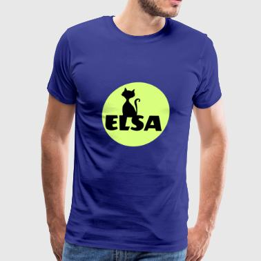 First Name Initial Elsa first name - Men's Premium T-Shirt