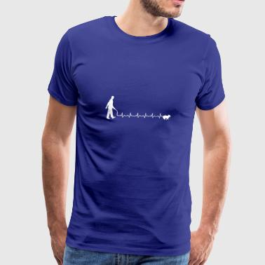 Heartbeats Love Dogwalk T-shirt - Men's Premium T-Shirt