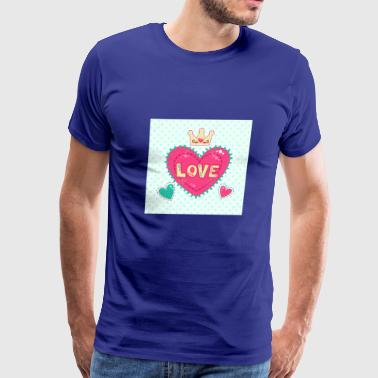 51642015-Cute-girlish-fashion-illustration-with-he - Men's Premium T-Shirt