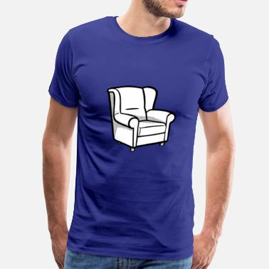 Armchair sofa couch chair table stuhl tisch lamp lampe benc - Men's Premium T-Shirt