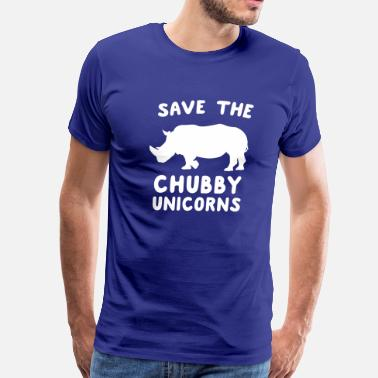 Save The Fat Unicorns Save the Chubby Unicorns - Men's Premium T-Shirt