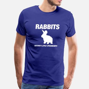 Rabbits, nature's little speedbumps - Men's Premium T-Shirt